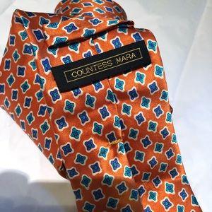 countess mara Accessories - Countess  Mara Mens Neck Tie Orange and Blue